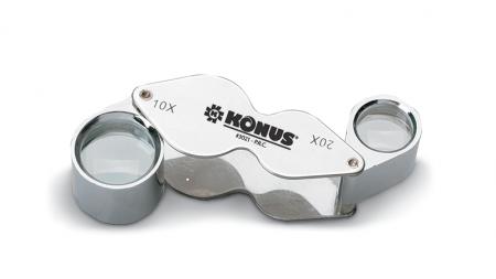 Lupa Konus Liner tester dual 10-20X