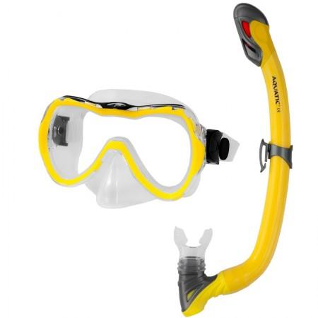 Aqua speed potapljaška maska z dihalko Enzo+Samos modra
