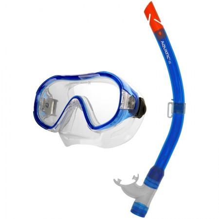 Aqua speed potapljaška maska z dihalko Junior+Atol modra