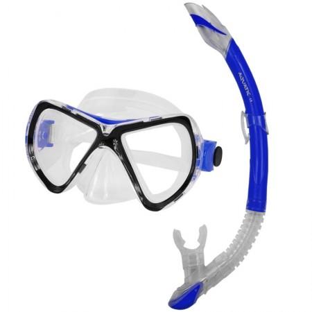Aqua speed potapljaška maska z dihalko Tuna+Zefir modra