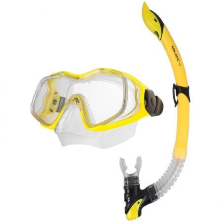 Aqua speed potapljaška maska z dihalko Galeo+Linus modra