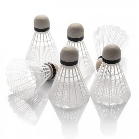 Žogice za badminton Rox PVC bele 6 kosov