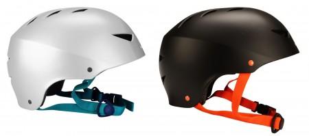 Nijdam čelada za skateboard Agresive silver S