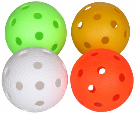 Žogica za  floor ball Salming Aero bela