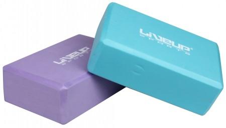 LiveUp pilates kvader 23 x 15 x 7,6 cm vijoličen