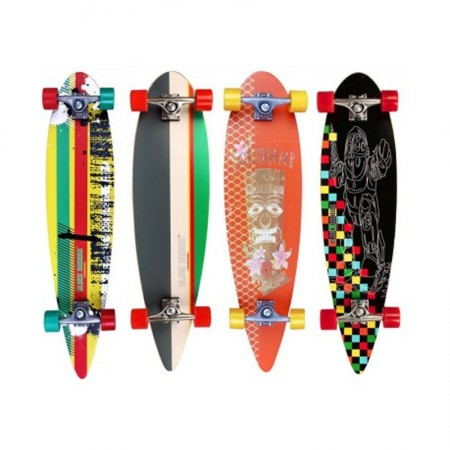 Longboard Black Dragon Tropical Funk RUMENO ZELENA