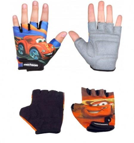 Otroške kolesarske rokavice Meteor Avto modre velikost 5