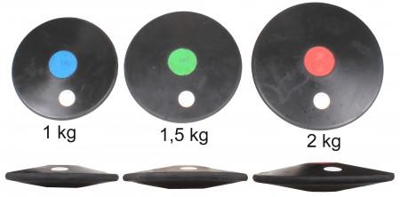 Vadbeni disk iz gume 1 kg