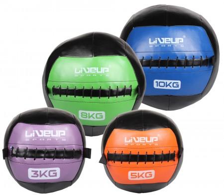 LiveUp usnjena fitnes žoga 3 kg