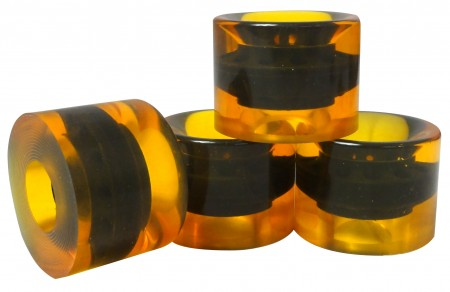 Kolesa za longboard 60 X 45 mm rumena