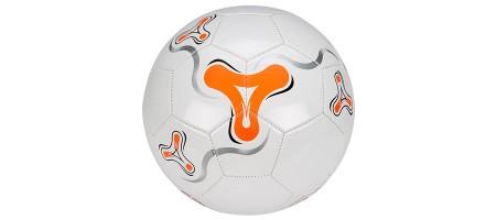 žoga za nogomet vel 5 belo oranžna