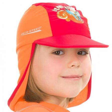 Aqua Speed kapa z UV zaščito rdeča 3