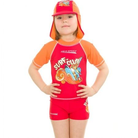 Aqua Speed majica z UV zaščito rdeča 3