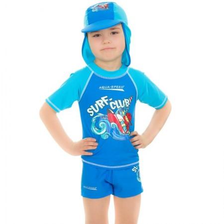 Aqua Speed majica z UV zaščito modra 3