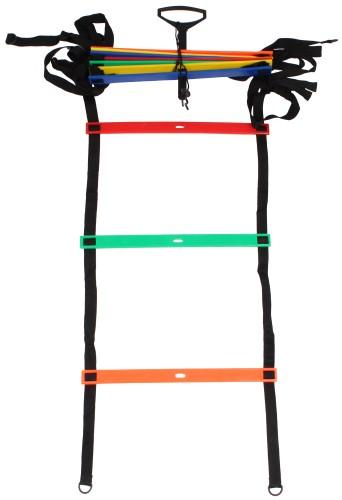 Barvna nastavljiva vadbena agility lestev merco 8 m