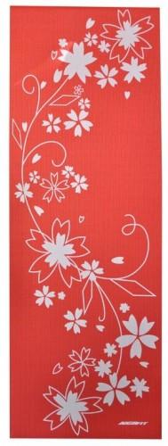 Podloga za vadbo axer rdeče bela 173 x 61 x 0,4 cm