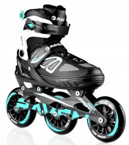 Rolerji Advance BIG WHEELS 100/110mm Black/mint  35-42